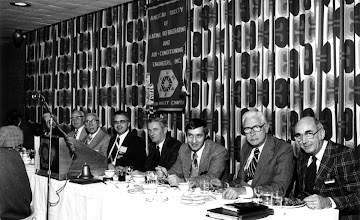 Photo: Head Table: John Fox, Bunny Stotesbury, John Ross, George Menzies, Jim Black, Bob McKee, Bill Hole, Jack Bowie