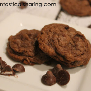 Dark Chocolate Cherry Pudding Cookies #HandCraftedEdibles