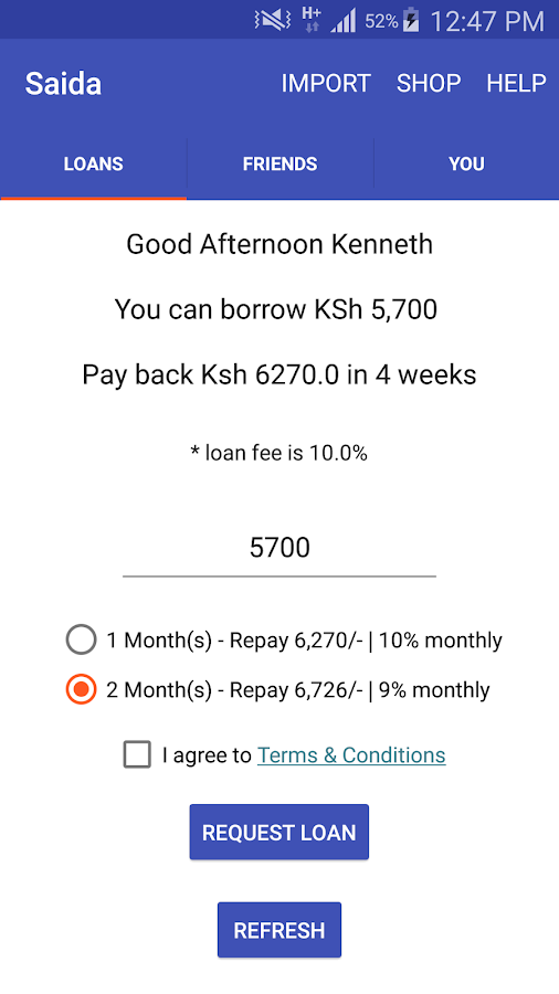 Saida - Loans to your M-Pesa- screenshot