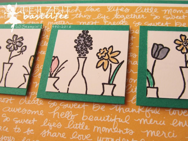 Stampin' Up! – In{k}spire_me #300, Vivid Vases, Sketch Challenge, Wunderbare Worte, Suite Sayings, Designer Series Paper