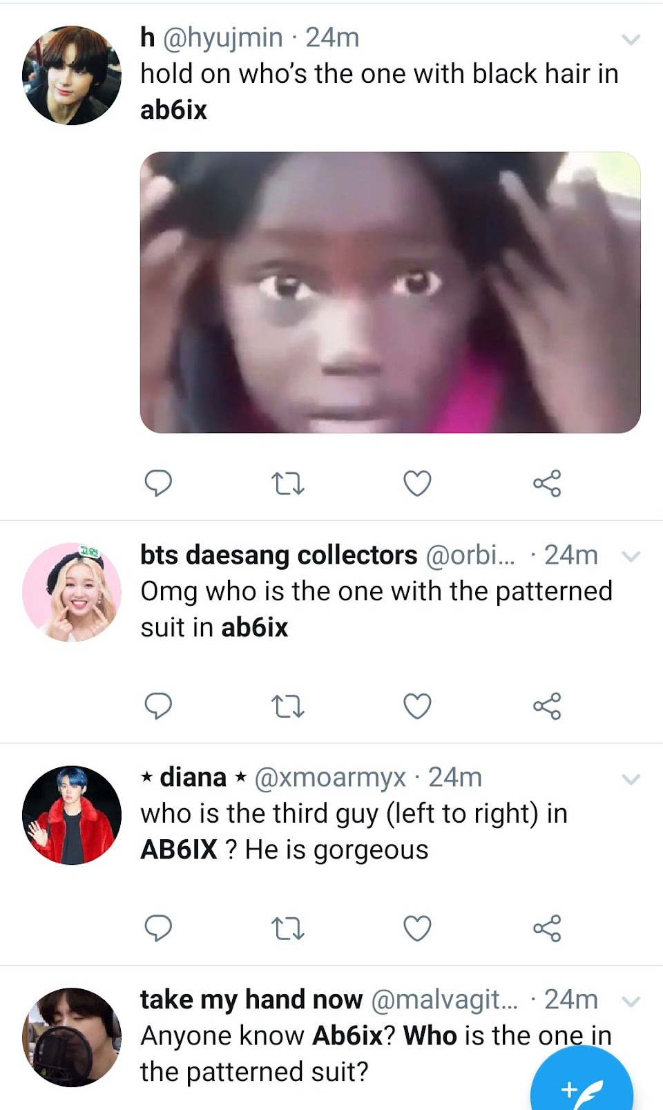 ab6ix kim donghyun twitter