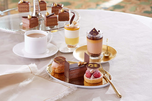 Creative chocolate desserts served in the International Cafe on your Princess sailing.
