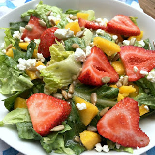 Copycat Wendy's Mango Strawberry Salad.