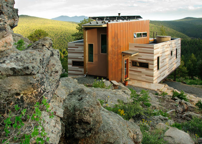 Check Out This Beautiful Container Home Nestled In Nature. The Mountain View Is The Highlight