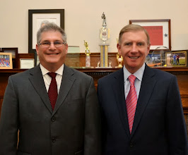 Photo: Representative David Linsky and BBA President Paul Dacier.