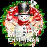 3D Christmas Snowman Theme Icon