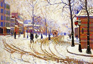"""Photo: Paul Signac, """"Neve - Boulevard de Clichy, Parigi"""" (1886)"""