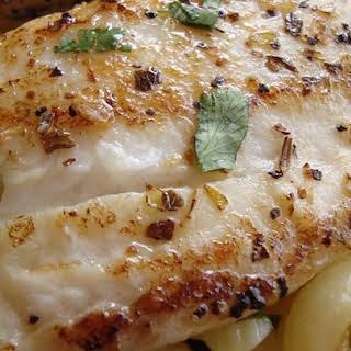 Pan Seared Lemon Tilapia with Parmesan Pasta.