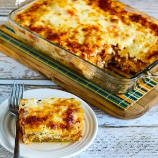 Low-Carb Mock Lasagna Spaghetti Squash Casserole.