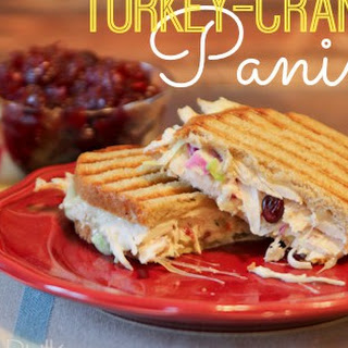 Turkey-Cranberry Panini {Thanksgiving Leftovers Recipe}.