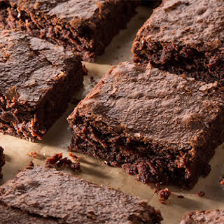 Fudgy Double-Chocolate Brownies.