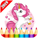 Unicorn Coloring For Adult 2019 icon