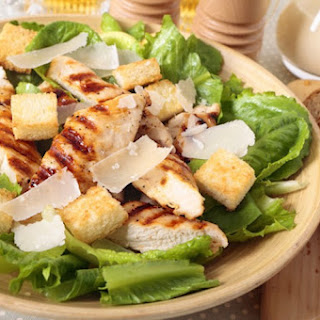 Bread Salad with Diced Chicken.