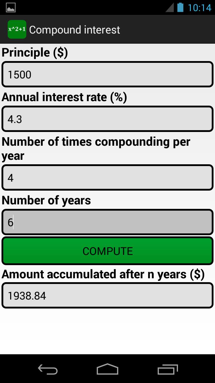 Custom Formulas Screenshot 2