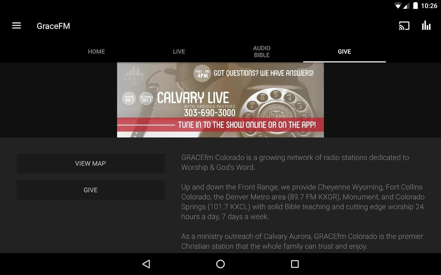 GraceFM Colorado- screenshot