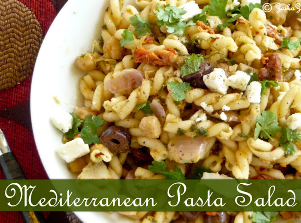 Mediterranean Pasta Salad : Perfect For Summer Picnics Or Your Bbq Parties Recipe