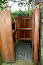 Photo: Outdoor shower, enclosed.