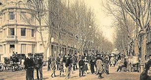 Imagen evocadora del Paseo donde estuvieron los principales teatros.