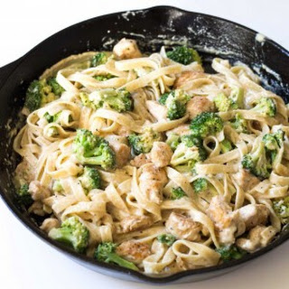 Broccoli Chicken Fettuccine Alfredo