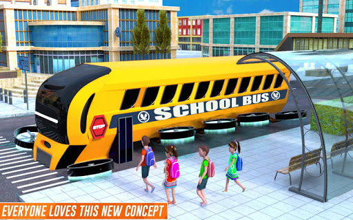 Flying School Bus Robot: Hero Robot Games 12 screenshots 10
