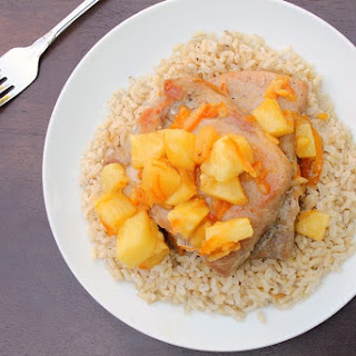 Asian Orange Pineapple Pork Chops
