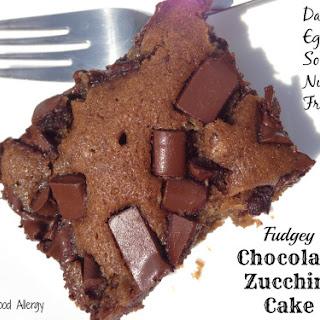 Fudgey Chocolate Zucchini Cake (Dairy, Egg, Soy, & Nut Free)