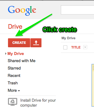 how to create new google doc user