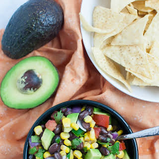 Black Bean, Corn & Avocado Salad.