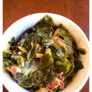 Braised Collard Greens with Bacon and Onion