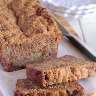 Caramelized Roasted Banana Bread with Oat Streusel.