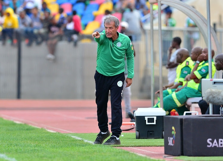 Veselin Jelusic, coach of Bloemfontein Celtic during the 2017/18 Absa Premiership football match between Bloemfobtein Celtic and Bidvest Wits at Dr Molemela Stadium, Bloemfontein on 01 October 2017.