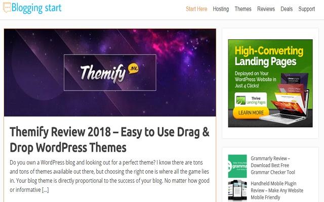 Blogging Start Launcher