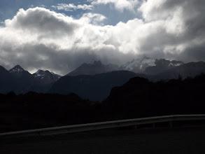 Photo: Bergkette rund um den Cerro Castillo (2.675m), der sich in den Wolken versteckt