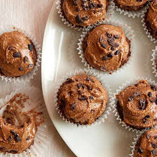 "Chocolate-Banana Cupcakes with Almond Butter ""Frosting"" Recipe"