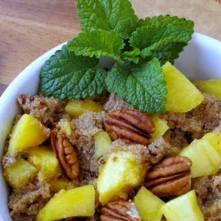 Sweet Ginger Peach Tea Quinoa with Jalepeno, Peaches and Pecans #RecipeRedux.