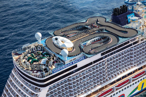 Norwegian Encore sails to Caribbean destinations in winter and from Seattle to Alaska in summer.