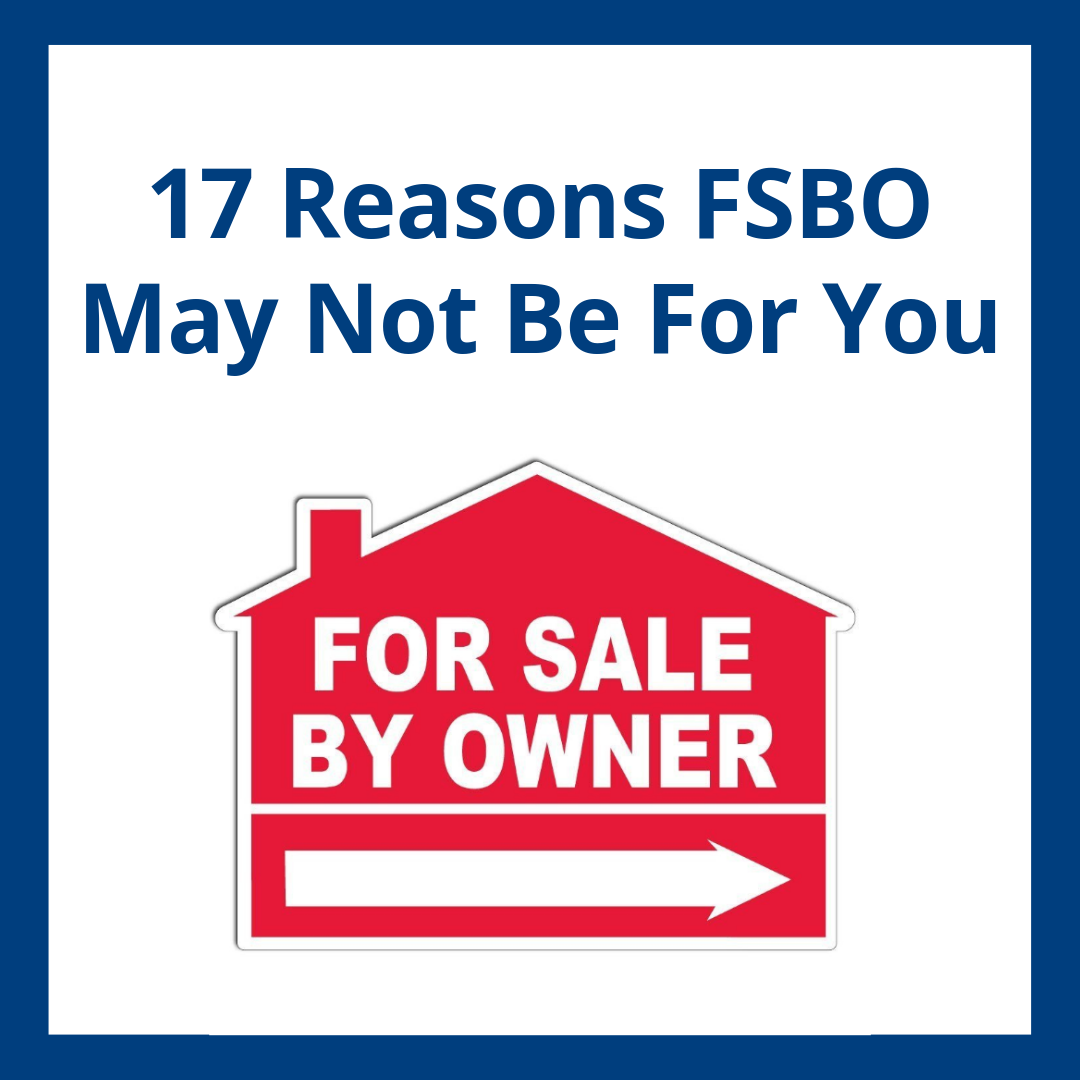 Selling your house on your own might be a bad idea