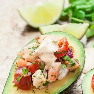Stuffed Avocado Shrimp Salad (Peruvian Palta Rellena)