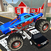 Monster Truck Racing - Cop Car city police Chase