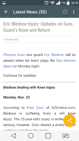 android Amazing NBA News Screenshot 1
