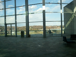 Photo: view to the outside from inside the Hunter Museum