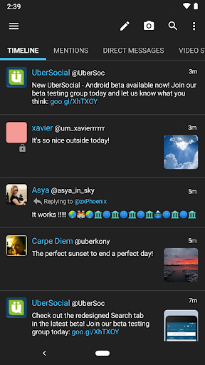 UberSocial PRO for Twitter screenshot
