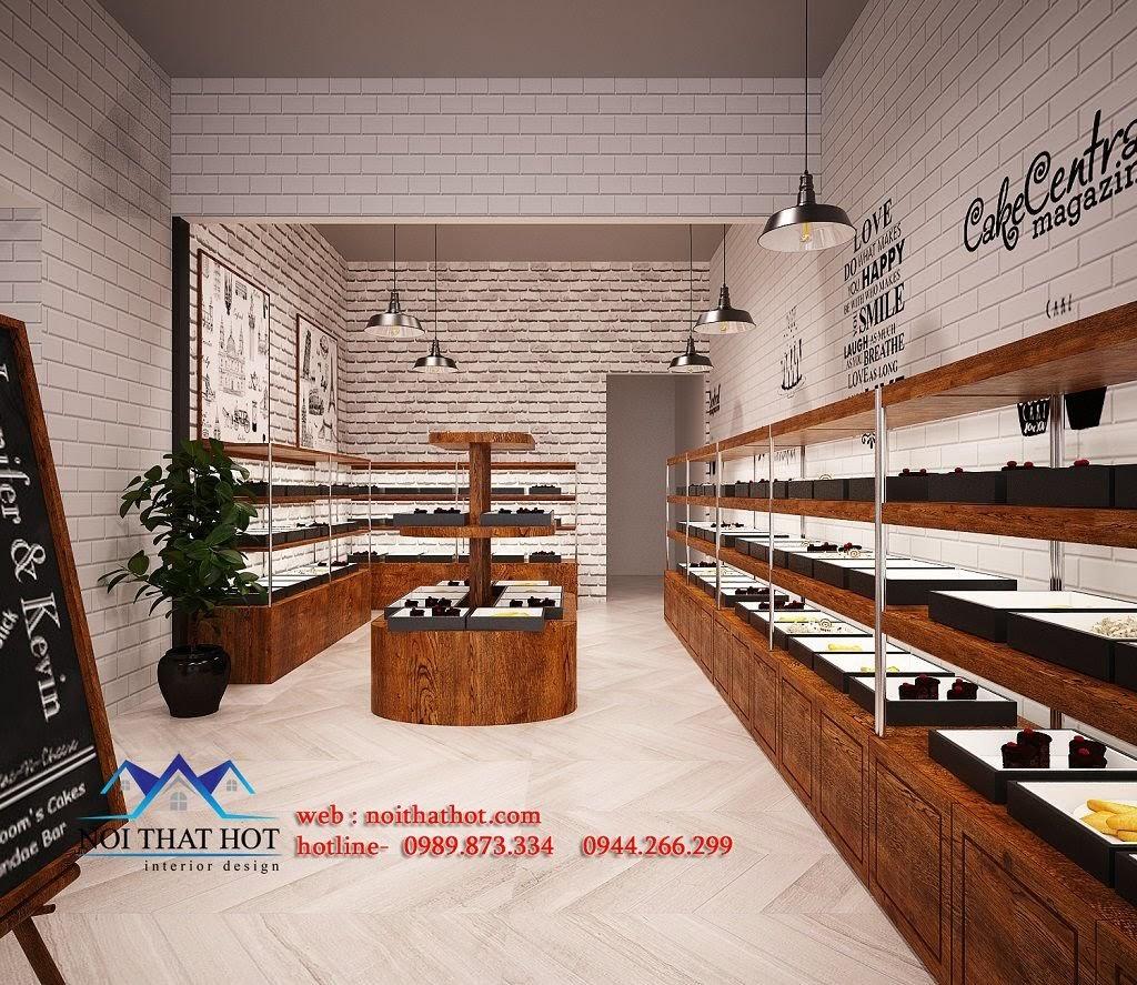 thiết kế cửa hàng bánh hiện đại