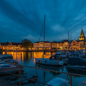 Lindau by F Kelly - City,  Street & Park  Historic Districts ( lindau habour, bavaria, habour, boats, lake constance, germany, marina )