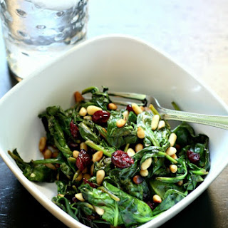 Hot Spinach Salad #springdetox