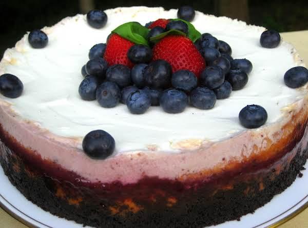 Creamy, Billowy  Sweet And Tart Cheesecake With Luscious Fresh Berries