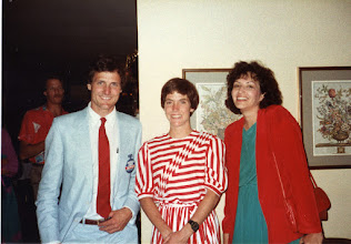 Photo: Scott - Joan - Sherrill 1984 Post-race, Olympic Marathon