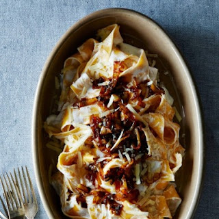 Pasta with Yogurt and Caramelized Onions.