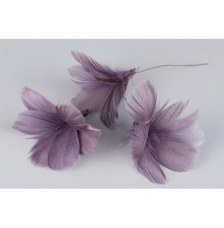 Fjädrar Blom Lila 12-pack