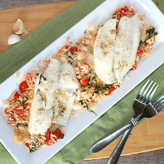 Tilapia with Spinach and Tomatoes